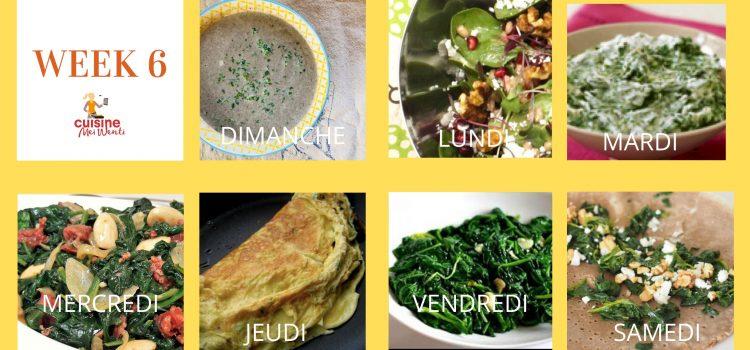 #week 6 : Les épinards, c'est tout un art !