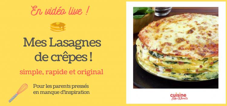 Mes crêpes façon lasagne : une recette originale et rapide pour les parents en manque d'inspiration !
